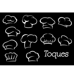 Chef toques and hats set vector