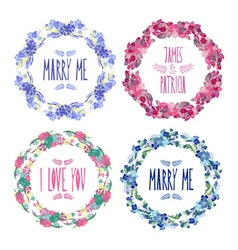 Floral frames set vector