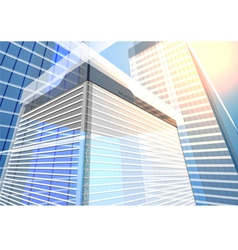 Architecture transparent building vector