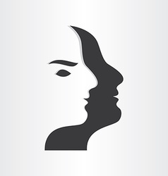 Stylized man face abstract design icon vector