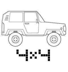 4x4 car vector