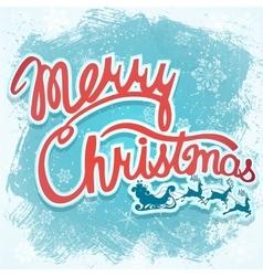 - Christmas sign with Santa vector image