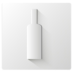White paper bottle vector