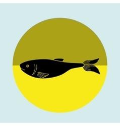 Seafood dinner design vector