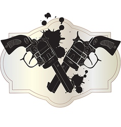 Wild west hand guns vector