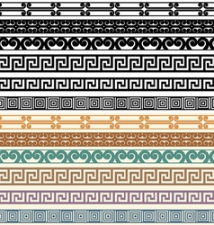 Greek border pattern design elements vector