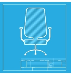 Office chair sign white section of icon on vector