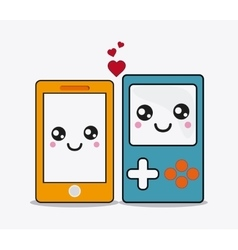 smartphone cartooon icon Kawaii and technology vector image