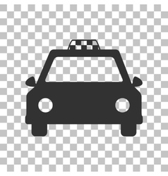 Taxi sign  dark gray icon on vector