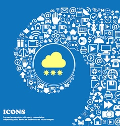 Snow cloud icon nice set of beautiful icons vector