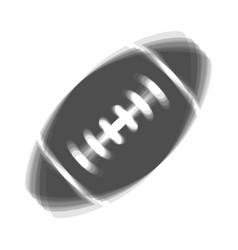 American simple football ball gray icon vector
