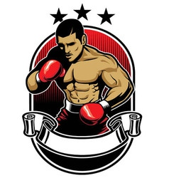 Boxing athlete vector