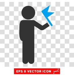 Child With Flag Eps Icon vector image