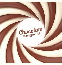 Chocolate swirl background with place for your vector