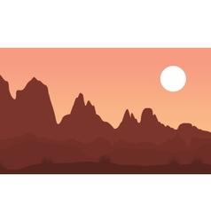 Cliff landscape vector