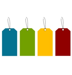 colorful tags vector image vector image
