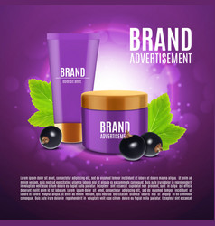 Cosmetic cream ads vector