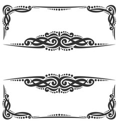 decorative black frames vector image
