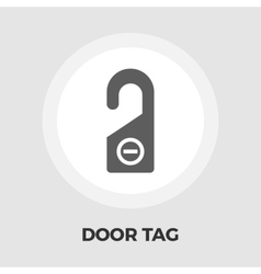 Door Tag Line Icon vector image