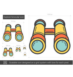 Explorer binocular line icon vector
