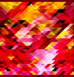 Geometric pattern of pink yellow red triangles vector