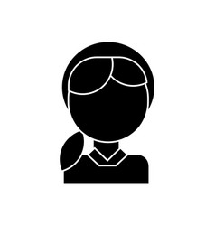 girl head icon black sign on vector image