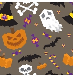 Halloween geometric pattern vector image