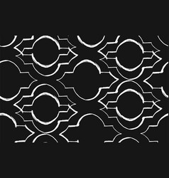 Hand made ramadan kareem textured seamless vector