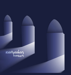 Masjid doors with holy light ramadan background vector
