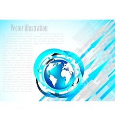 modern earth template vector image