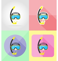objects for recreation a beach flat icons 09 vector image