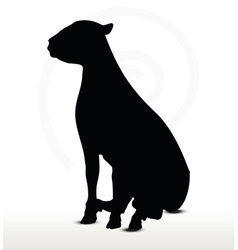 Sheep silhouette with sitting pose vector