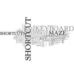 shortcut word cloud concept vector image vector image