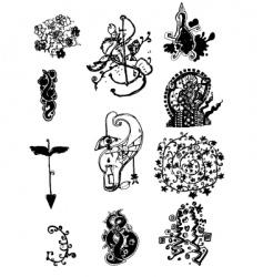 tattoo art doodle vector image vector image