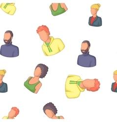 Types of avatar pattern cartoon style vector