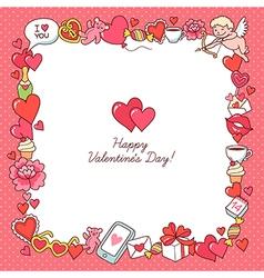 Valentine card frame vector