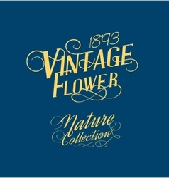 Vintage style text vector