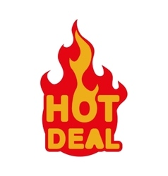Hot deal icon label esign graphic vector