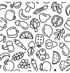 Fruit and vegetables background seamless pattern vector