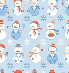 Snowmen seamless background vector