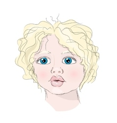 Portrait child vector
