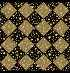 Gold and black seamless chess styled vintage vector