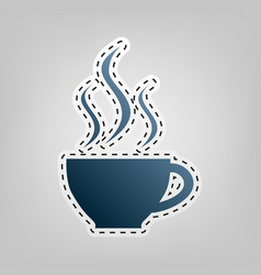 cup sign with three small streams of smoke vector image