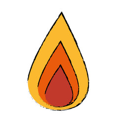 fire flamme energy vector image