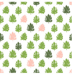 Tropical plant seamless pattern vector