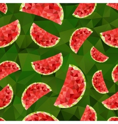 Triangle watermelon abstract seamless pattern vector