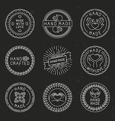 Set of linear badges and logo design elements vector