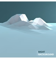Abstract low poly ice mountain background vector