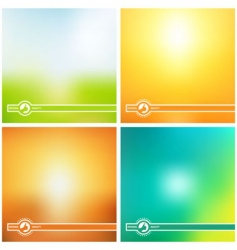 Sunny creative background vector