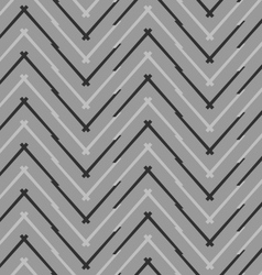 Monochrome pattern with gray and black chevron vector